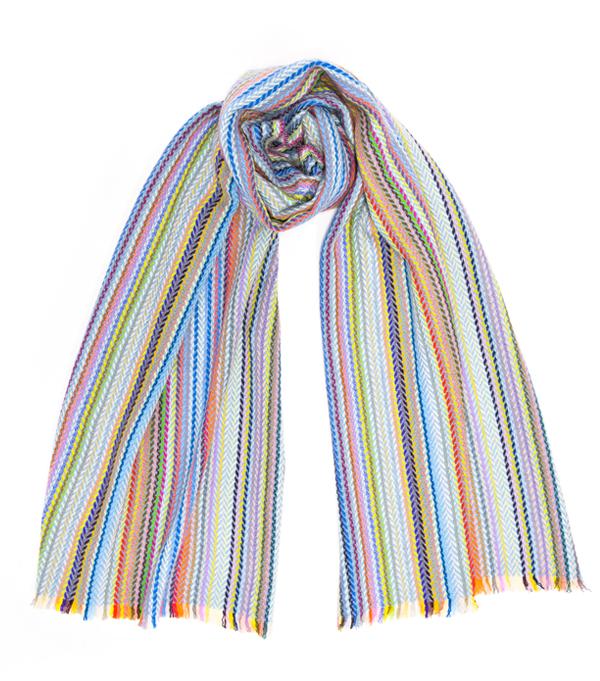 La bolgheri multicolor stola in cashmere e seta di Leopolda