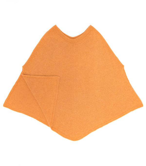 Mantella in finissimo cashmere colore arancio Leopolda Montalcino