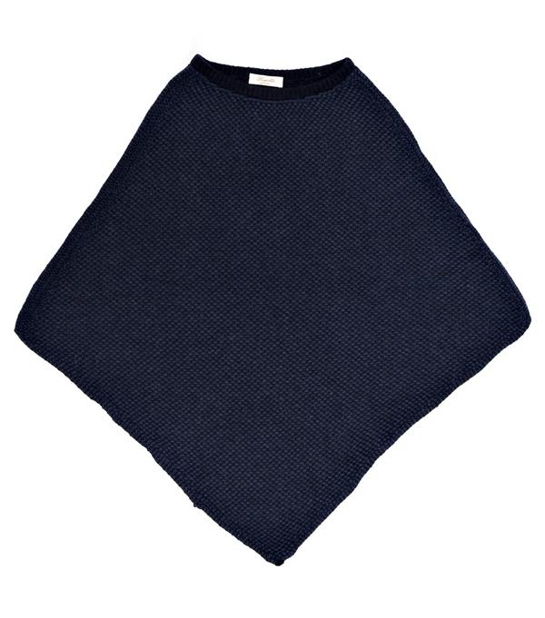 Mantella colore blu in finissimo cashmere di Leopolda Bolgheri
