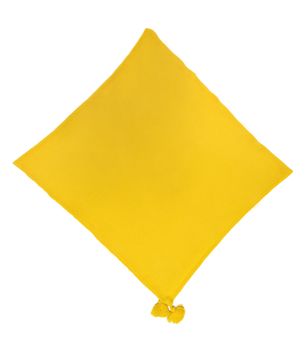 poncho giallo in finissimo cashmere made in Italy