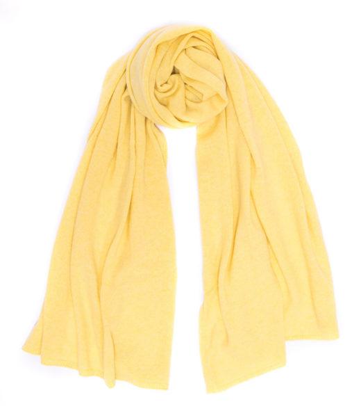 stola gialla Nuvola di Leopolda manifattore artigiane made in italy