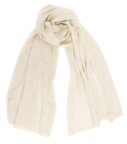 stola nuvola perla in finissimo cashmere made in italy