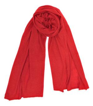 Stola nuvola rossa in finissimo cashmere di Leopolda manifatture artigiane