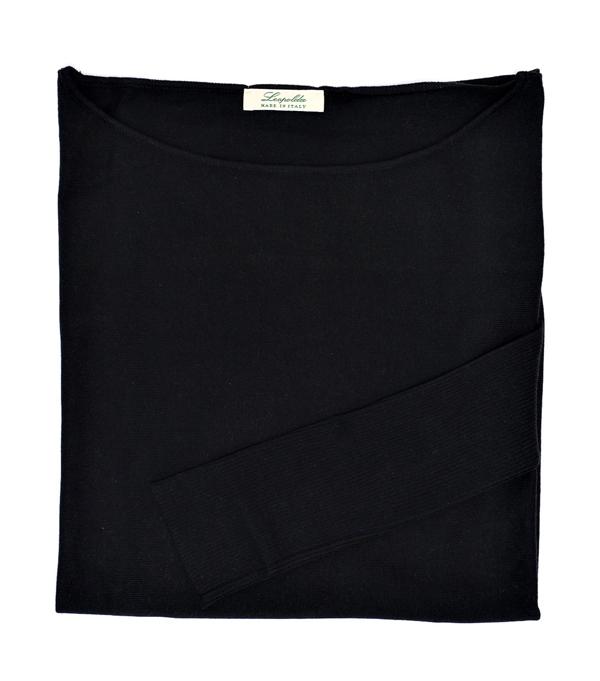 maglia Over colore nero Collezione Leopolda Cashmere Firenze