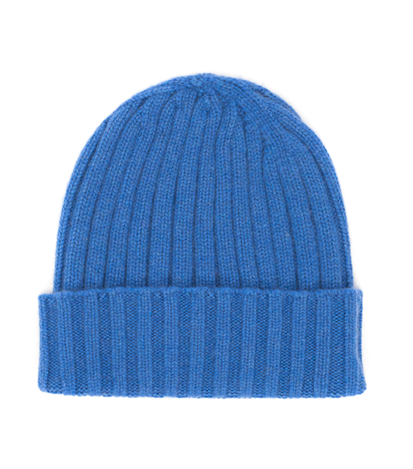 cappello a costa in cashmere made in italy