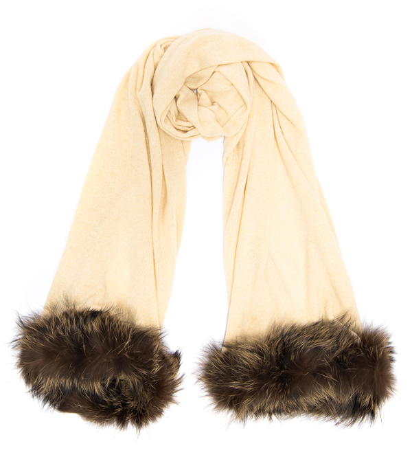 luxury Leopolda capi in cashmere con inserti in pelliccia