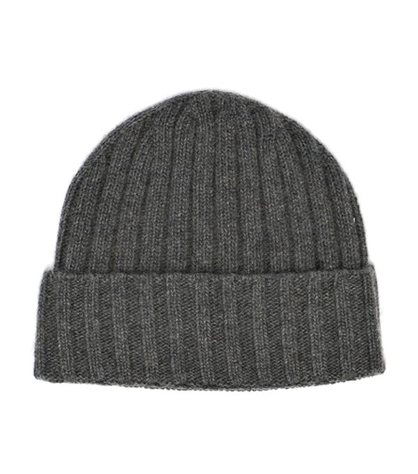 Cappello costa antracite in cashmere Italiano