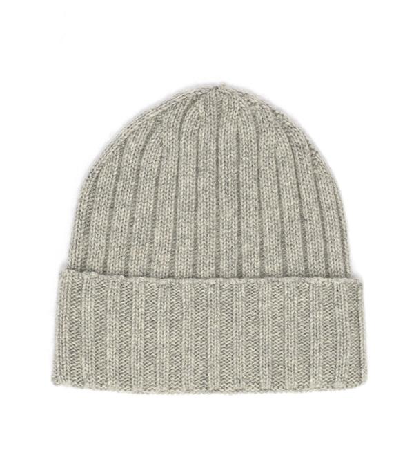 papalina 100% cashmere di colore grigio cappello made in italy