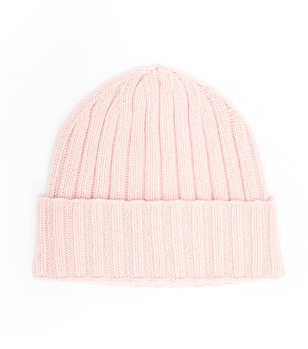Cappello rosa in cashmere di Leopolda cashmere Firenze