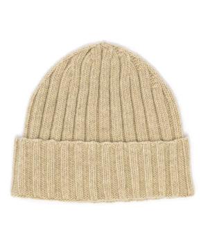 Cappello costa unisex colore sughero 100% cashmere di Leopolda cashmere Italia