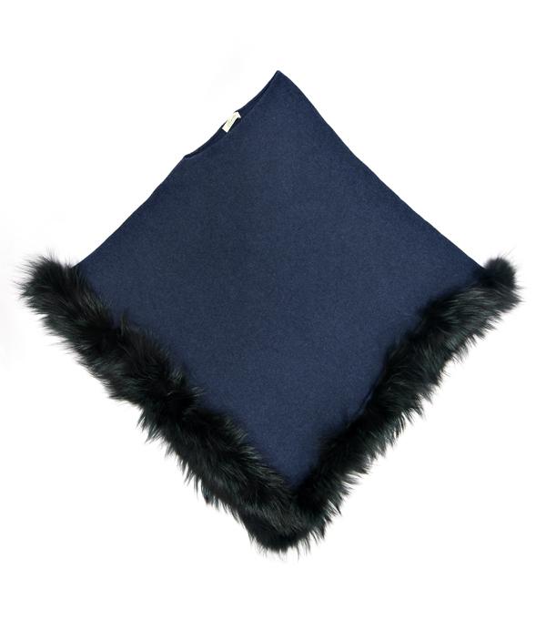 mantelle e stole in cashmere con inserti in pelliccia made in italy