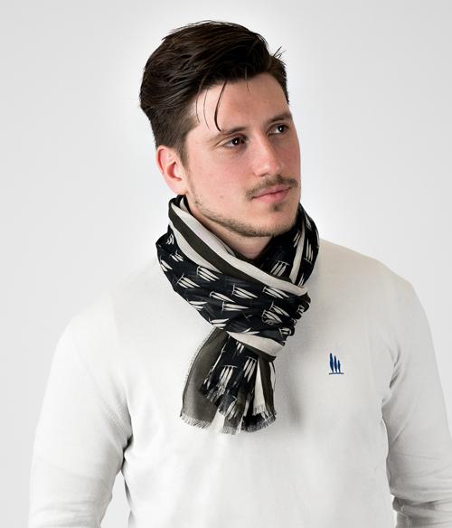 foulard uomo con cipressini Leopolda