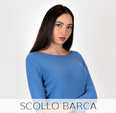 maglia donna con scollo barca in 100% cashmere di Leopolda cashmere