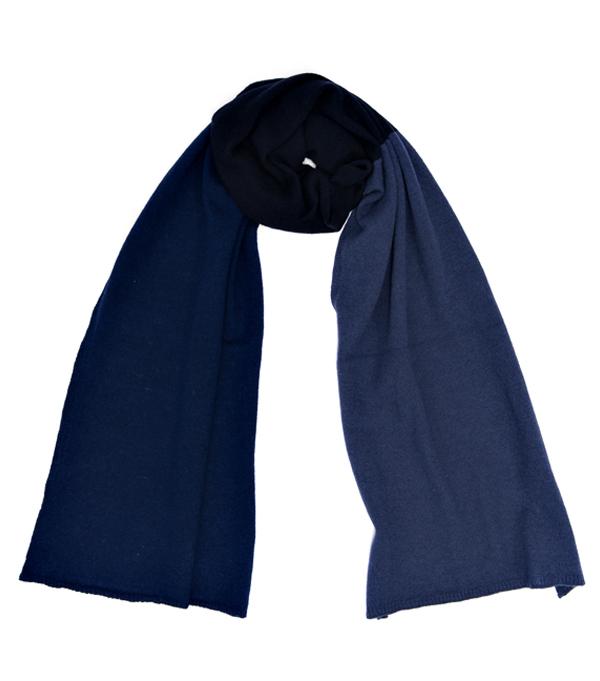 Sciarpa multicolor blu in merinos e cashmere di Leopolda Firenze