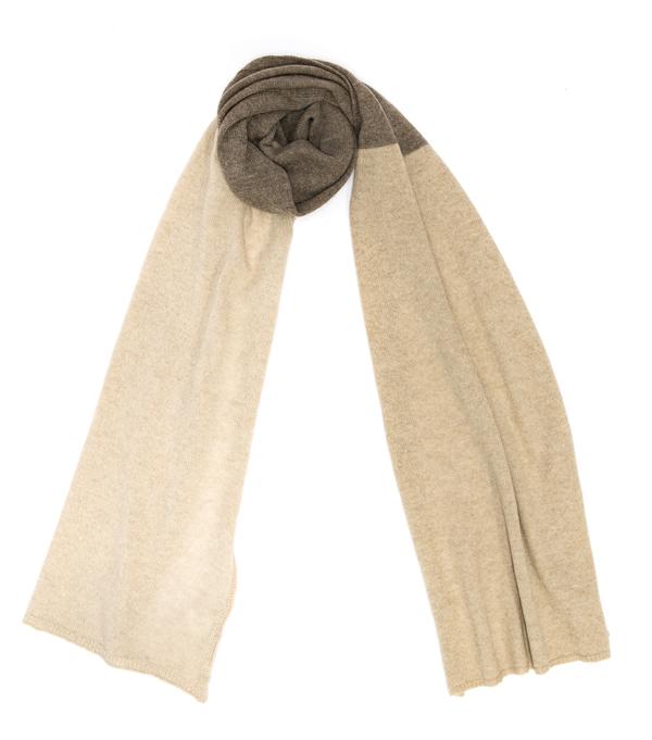 Sciarpa multicolor in lana merinos e cashmere di Leopolda cashmere Bolgheri