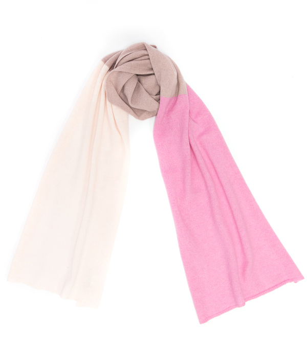 Sciarpa multicolor rosa di Leopolda cashmere Firenze