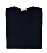 Maglia scollo v in cashmere e lana merinos di Leopolda cashmere