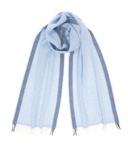 Sciarpe in cashmere di colore azzurro made in Italy di Leopolda cashmere
