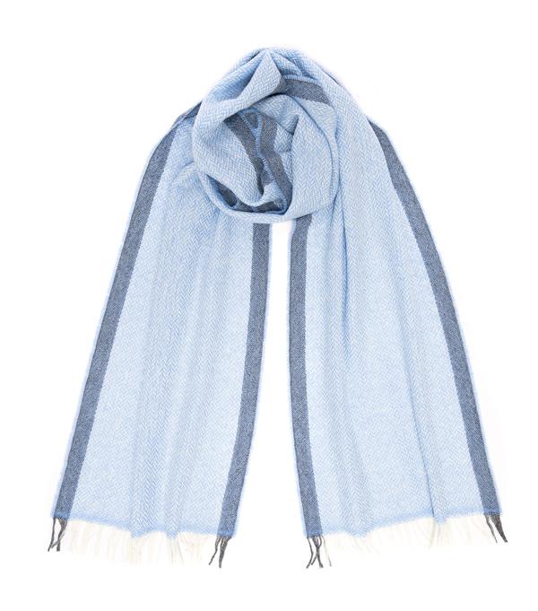 Sciarpa Vinci Azzurra 100% cashmere Leopolda manifatture artigiane Firenze