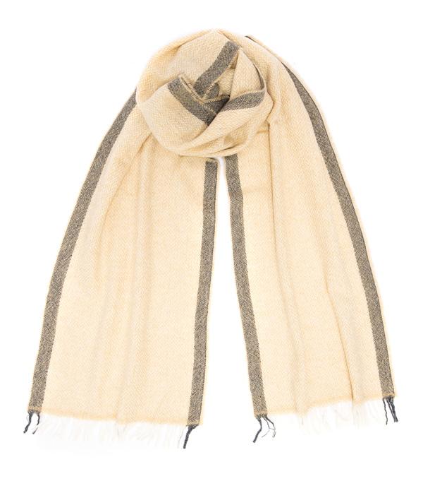 Sciarpa Vinci beige 100% cashmere collezione Leopolda Montalcino