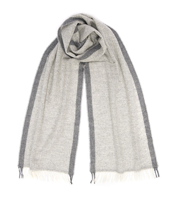 Sciarpa Vinci colore grigio di Leopolda cashmere Bolgheri