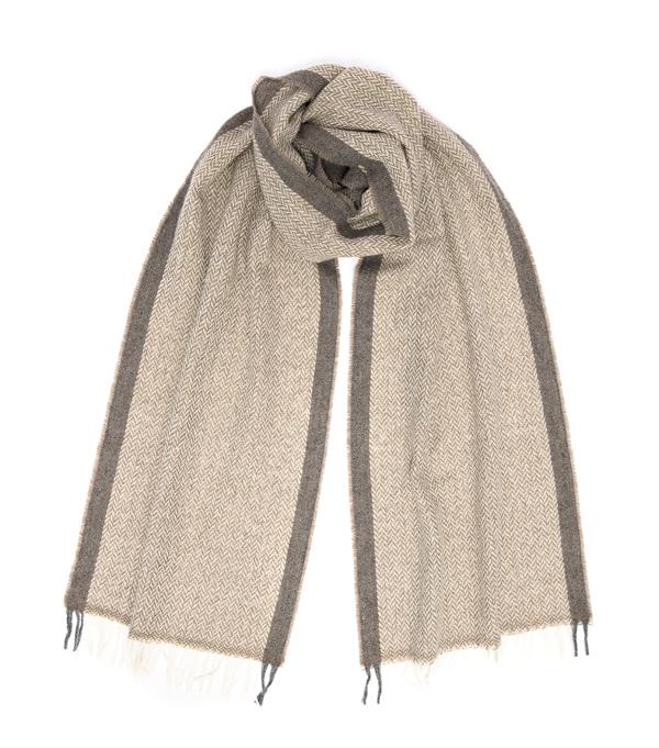 sciarpa vinci in cashmere colore marrone di leopolda cashmere