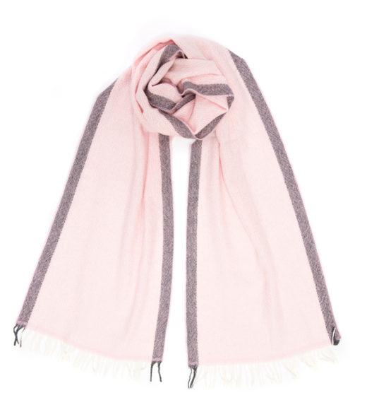 Sciarpa vinci rosa in cashmere di Leopolda cashmere made in Italy