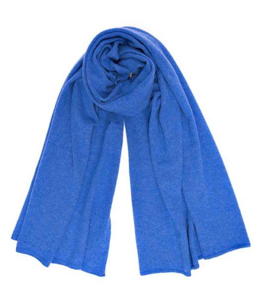 Leopolda manifatture artigiane Stola Nuvola azzurro 100% cashmere