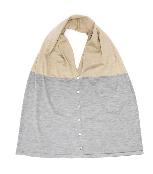 mantella in lana merinos e seta multiversione di Leopolda cashmere