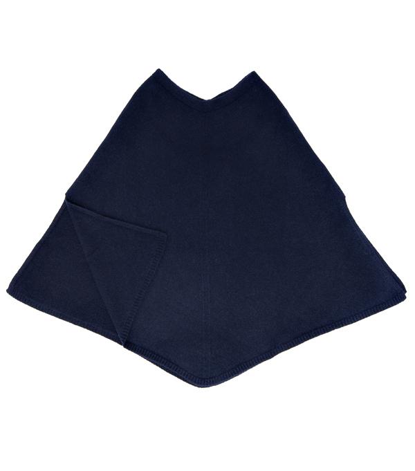 Mantella color blu in finissimo cashmere Leopolda Firenze
