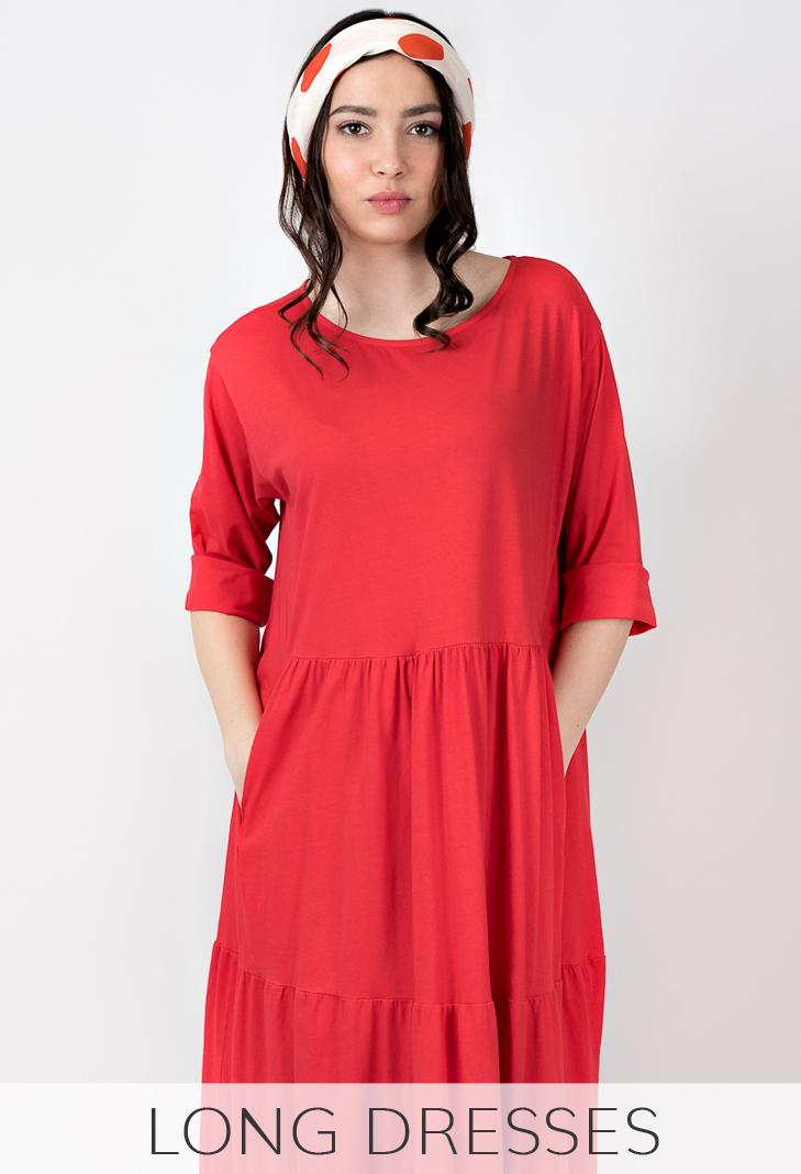 Woman long dresses shop online Leopolda cashmere
