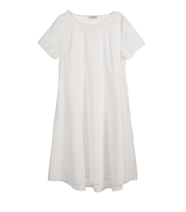 vestito donna bianco modello Milano - made in italy
