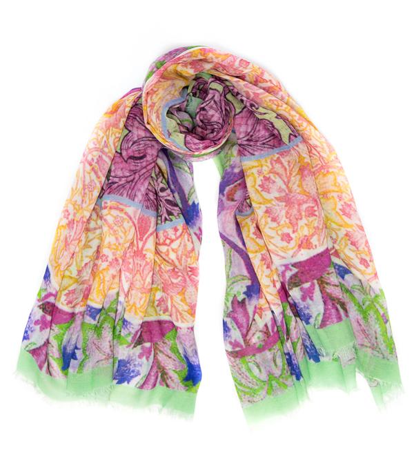 stola fiori in misto cashmere in vendita online su cashmere Italia