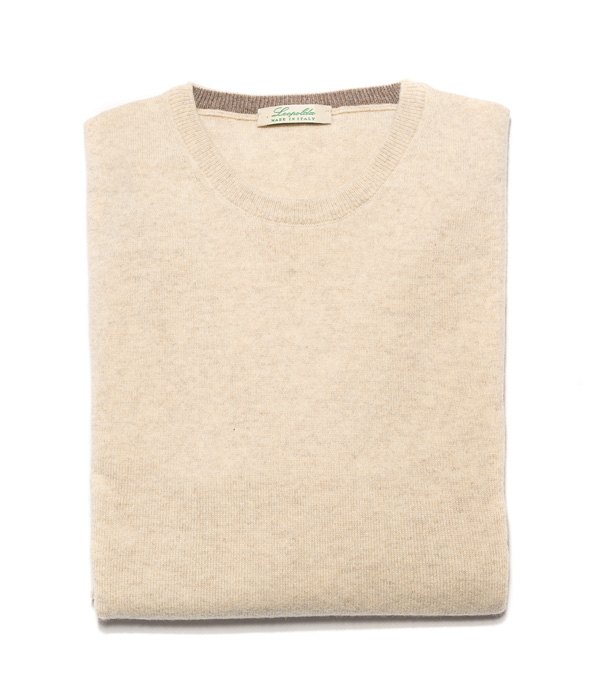 Man cashmere V neck pullover color: Ecru