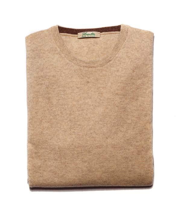 Man cashmere V neck pullover color: Cammello