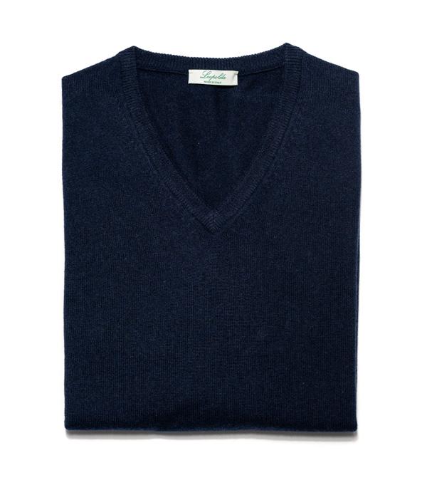 Man cashmere V neck pullover color: Grey
