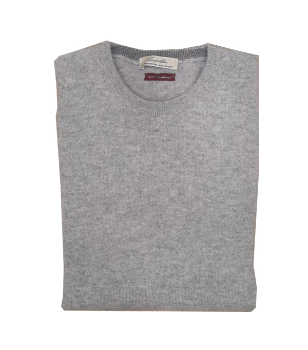 Man cashmere crew neck pullover color: grey