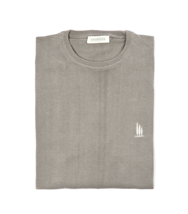 maglia girocollo cotone grigio vendita online