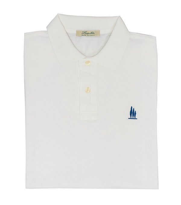 white polo shirt new leopolda cashmere collection made in italy