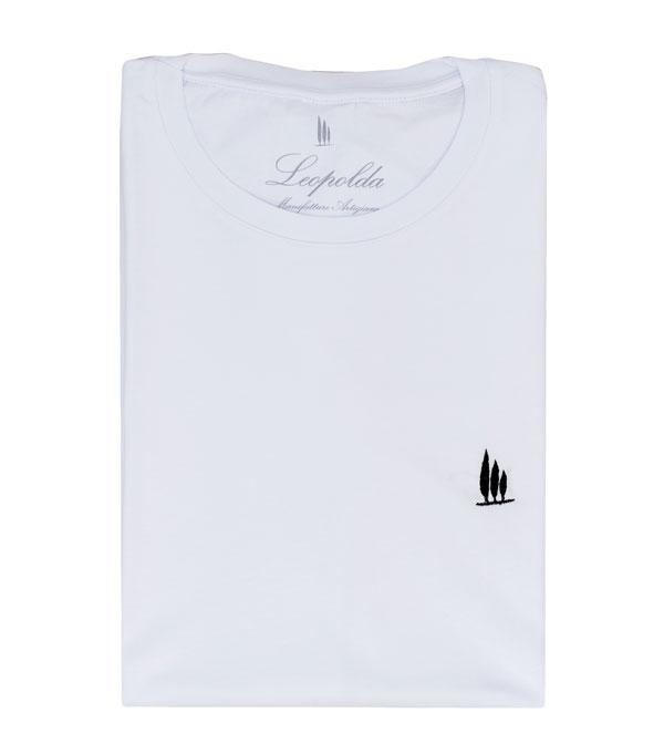 t-shirt in cotone colore bianco della nuova collezione primavera estate Leopolda cashmere