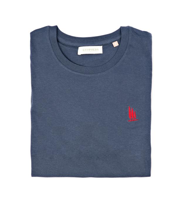 man t-shirt blue leopolda cashmere