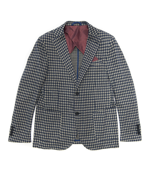giacca uomo quadretti bianco blu vendita online - made in italy