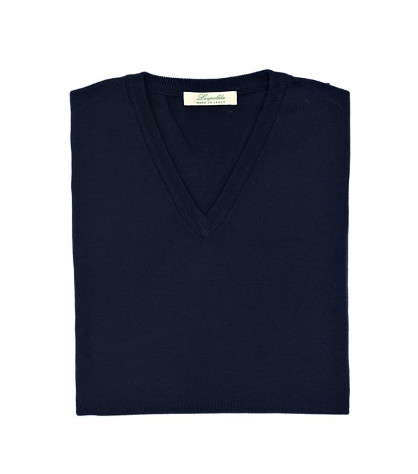maglia scollo V lana merinos in vendita online su leopolda cashmere- made in italy