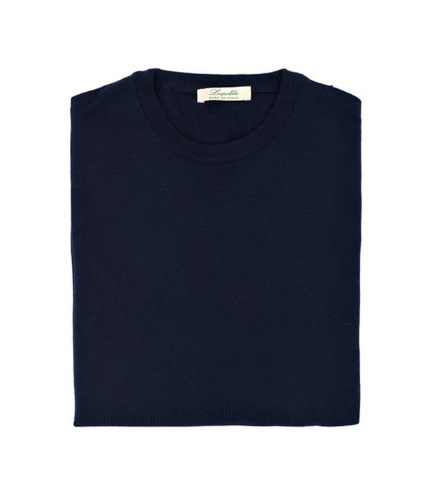 maglia uomo girocollo in lana merino in vendita online - made in italy