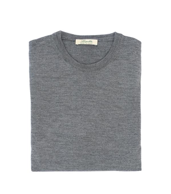 Merinos crew neck men's sweater - made in italy