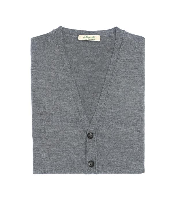 Merinos wool men's vest - made in italy