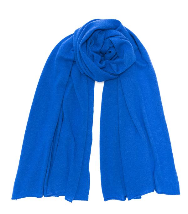 Nuvola azzurro royal stola in cashmere produzione italiana
