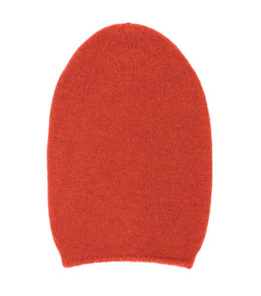 cappello in cashmere di colore rosso prodotto in italia in vendita online