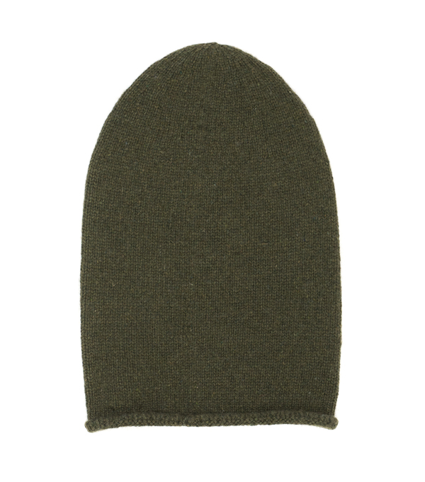 100 % cashmere hat color olive green made in italy by Leopolda