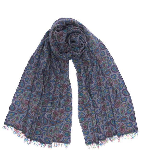 Ampia sciarpa misto cashmere unisex prodotta in Italia